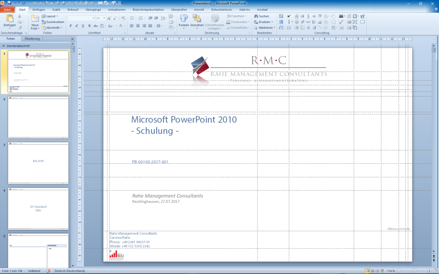 Rahe Management Consultants - PowerPoint for Business